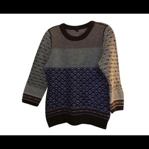 J. Crew Wool sweater intarsia Knit m 10